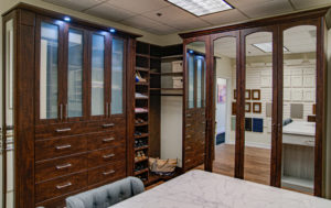 Master custom closet, custom dressers, shoe racks
