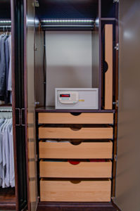 secure custom closets, custom closets, digital safe