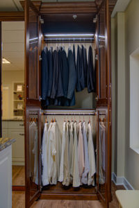 custom closet, custom wardrobe, LED lighting