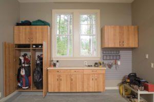 custom garage, garage cabinets, garage desk