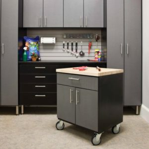 custom garage, handiwall, tool storage