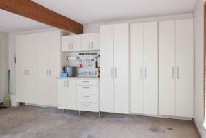 custom garage, garage cabinets, handiwall tool storage