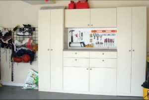 custom garages, handiwall, custom tool board