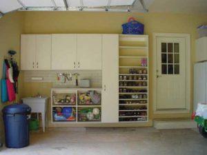 Custom Garages, Sliding Wire Bins, Garage Cabinets