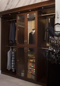 custom closet, glass wardrobe, custom wardrobe