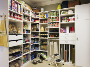 Custom Pantry, pantry shelving, food storage