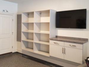 custom home office, custom garage, custom office