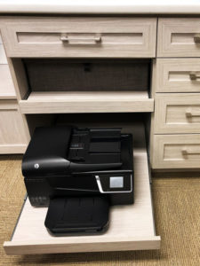 Home Office, Sliding Drawers, Cabinets
