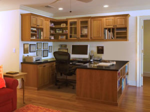 Home Office, Custom Desk, Book Shelving