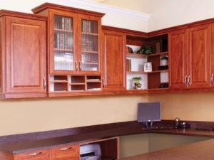 home office, custom desk, custom shelving