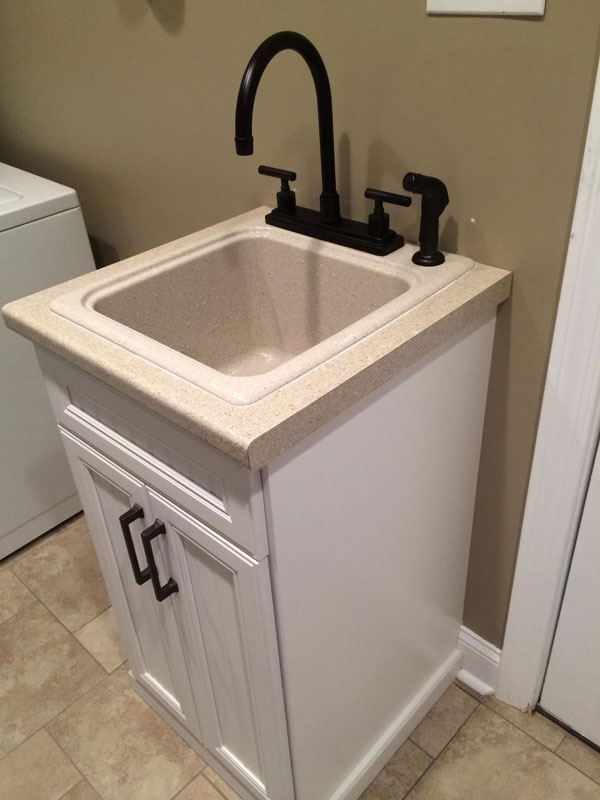 Laundry Room, Cabinet Sink, Custom Cabinet Sink