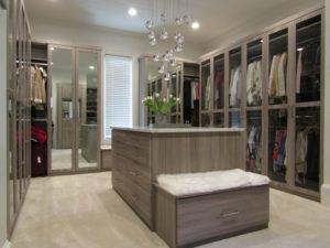 custom closets, walk-in closets, custom lighting