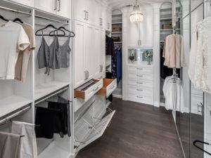 white walk-in closet, White closet, White walk-in