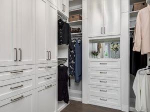 White Closet, Custom Closet, Walk-in Closet
