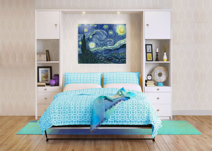 wall bed, murphy bed, custom foldable bed