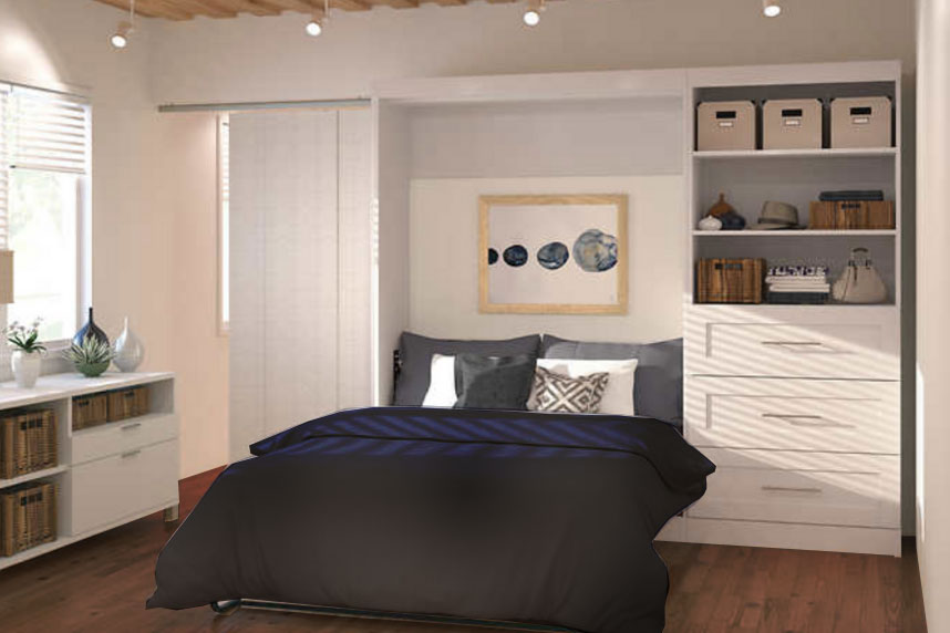 wall bed, murphy bed with cabinets