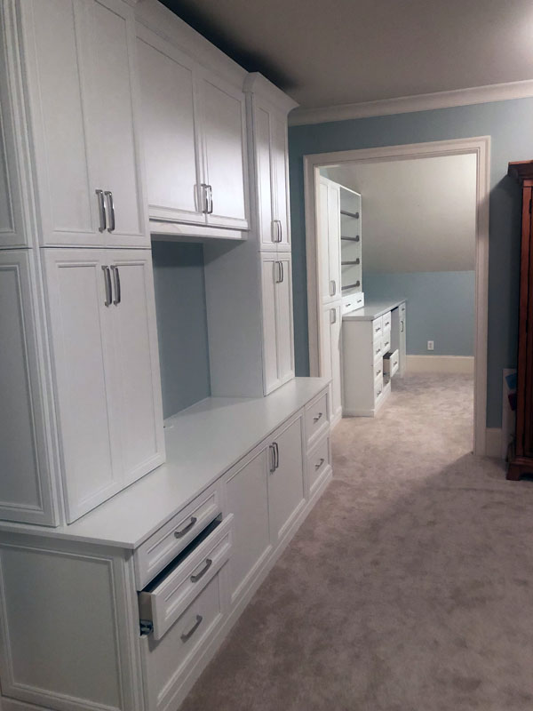 custom closet, craft closet, craft storage