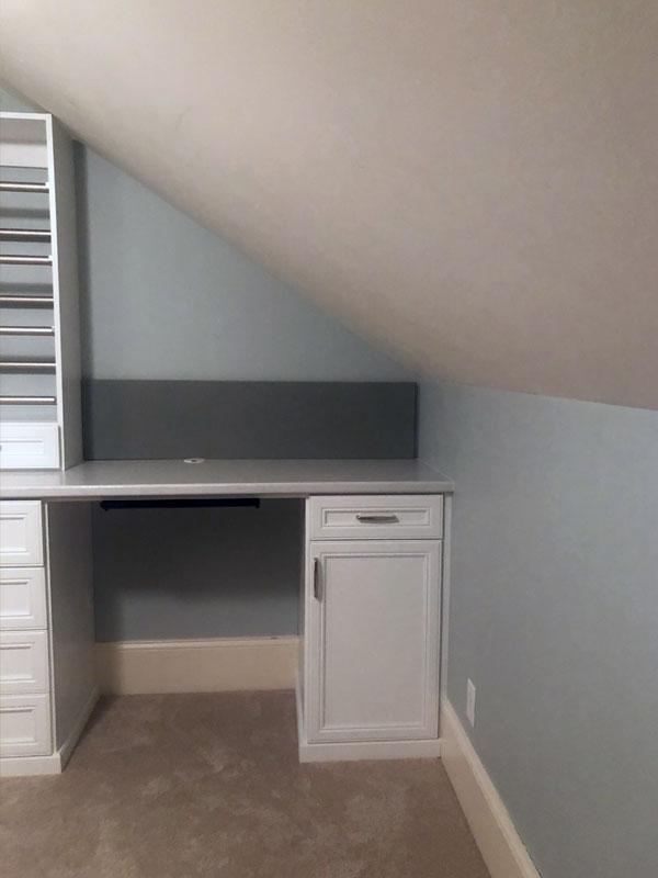 Crafts Area, Work Desk, Custom Cabinet