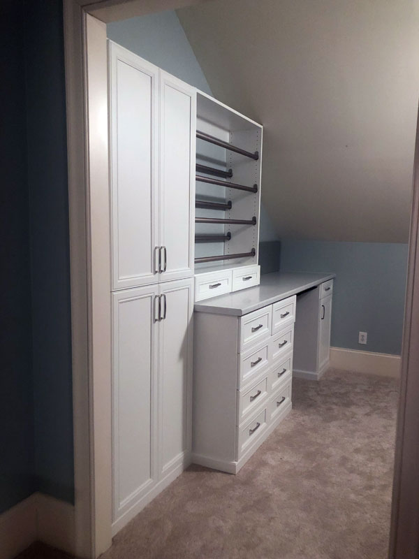 crafts closet, crafts room, custom crafts cabinet