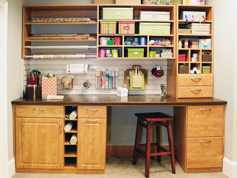 crafts cabinet, crafts counter, custom cabinet