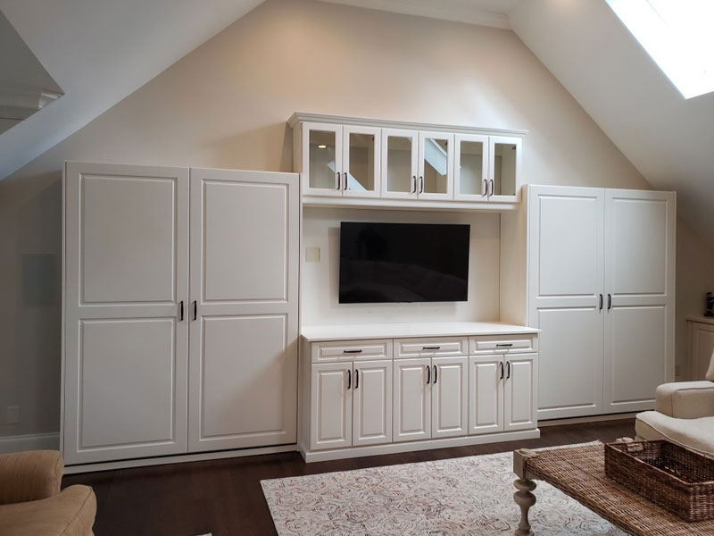 Wall Beds, Entertainment Center, Custom Cabinets