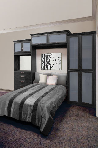 murphy bed, custom cabinets, wall bed