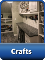 crafting rooms, arts and crafts room, custom hobby rooms